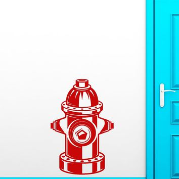 Vinyl Wall Decal Fire Hydrant Department For Firefighter Room Decoration Stickers (3000ig)