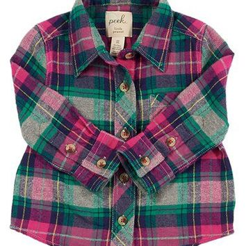 Peek 'Belen' Flannel Shirt (Baby Girls) | Nordstrom