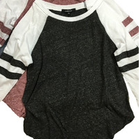 Mila Baseball Tee - Black