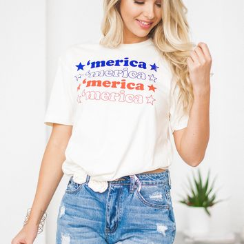 'Merica Red White And Blue Tee