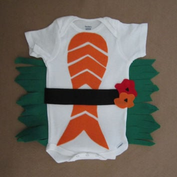 Child Halloween Costume, Sushi costume for baby or toddler, Cute and Hand designed  O 3 6 9 12 18 24 Months Baby costume Sushi Ready to Ship