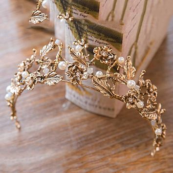 Gold Bridal Wedding Tiaras and Crowns  Cosplay Renaissance
