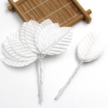 Artificial Scrap-booking Flower Leaves Party Decoration