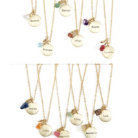 Zodiac Necklaces | 12 Styles
