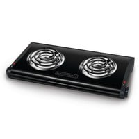 BLACK+DECKER Double Burner Portable Buffet Range - Black DB1002B