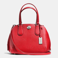 Prince Street Mini Satchel in Polished Pebble Leather