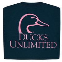 Ducks Unlimited© Long Sleeve Logo Tee 01-442C - Ladies
