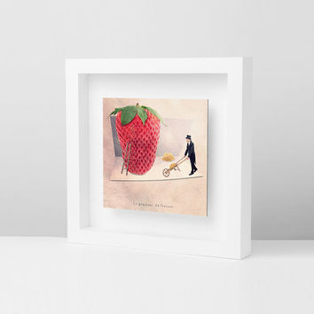 Modern art, Home Decor, Frames, Strawberry Photo, Food photography, Red decor, Picture frames, Modern Picture Frames, Framed decor