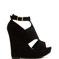 T-Time Faux Nubuck Wedges