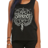 Slipknot Wreath Logo Girls Muscle Top