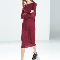 Oversize ribbed dress