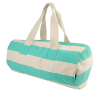 Striped Duffle Bag