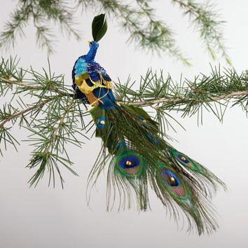 Sequined Peacock Clip Ornament