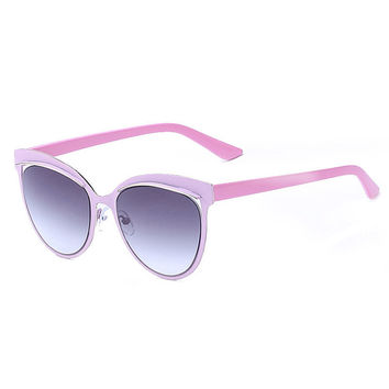 ROYAL GIRL Sunglasses Women Cat Eye Sunglasses Mirror Oval Lens Brand Designer Fashion Ladies Sun Gl