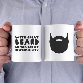 With Great Beard Comes Great Responsibility Funny Mug Gift for Father's Day