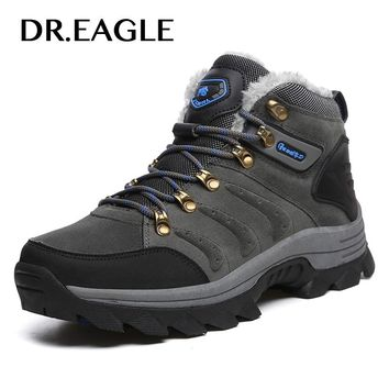 DR.EAGLE Outdoor Winter shoe man boot sneakers tactical military hiking mountain shoes for men Women mens tramping hunting boots