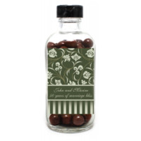 Green Ribbon Anniversary Personalized Glass Bottles for Anniversaries, Weddings, Party Favors, Candy Favors