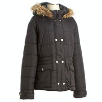 Cinched Waist Puffer Coat - Jr. Plus 110008898