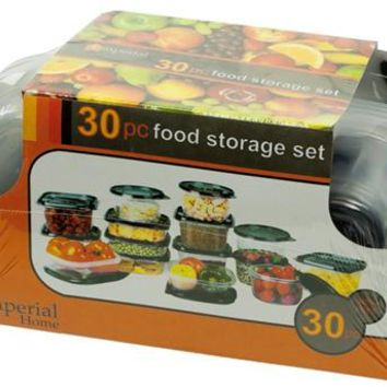 Imperial Home Plastic Container Set Black Lids