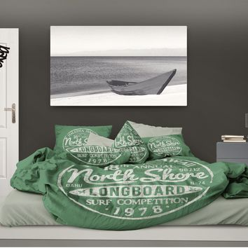 Surfer Bedding Haleiwa, Hawaii Green Surf Duvet Cover