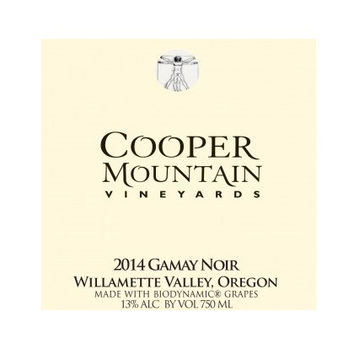 Cooper Mountain Vineyards Gamay Noir 2014
