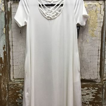 Criss Cross Tunic Dress