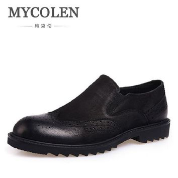 MYCOLEN 2017 New Men Shoes Luxury Brand Moccasin Leather Casual Driving Oxfords Shoes Business Men Loafers sapatos homens