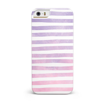 Purple WaterColor Ombre Stripes INK-Fuzed Case for the iPhone 5/5S/SE