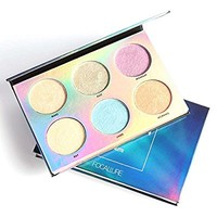 Glow Kit Powder Highlighter Makeup Palette SUNTRIC Shimmer Highly Pigmented Chameleon Highlighter