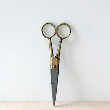 Zion + Sophie's Wedding Registry | Fog Linen Brass & Steel Scissors | Small