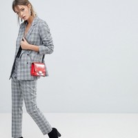 Oasis Double Breasted Check Blazer at asos.com
