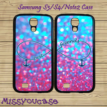 Samsung galaxy S4,Samsung galaxy S3,Samsung Galaxy Note2 Case,cute Samsung S3 Case,cute Samsung S4 Case,Anchor,Sparkle,best friends case.