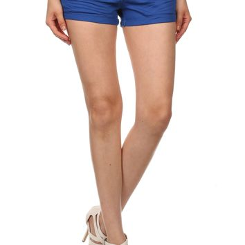 Woven Cotton Short Shorts For Women Woven, With Pockets