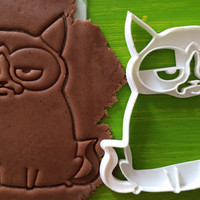 Cookie Cutter grumpy cat cookiecutter cookies custom shape custom size custom picture