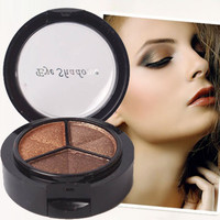 3 Colors Glitter Eyeshadow Palette Professional Brand Women Cosmetic Make Up Set