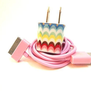 Full of Color Decorated iPhone Charger and Color by PersonalPower