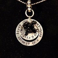 FREE SHIPPING coal miner hand stamped necklace coalminer