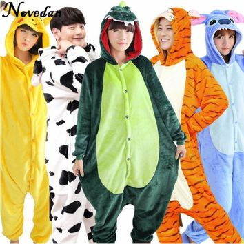 Kigurumi Pajama Sets Unicorn Panda Stitch Onesuits For Adults Animal Pajamas Cosplay