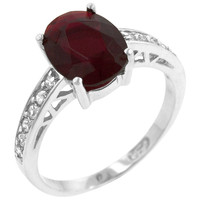 Atlantic Ruby CZ and Sterling Silver Ring