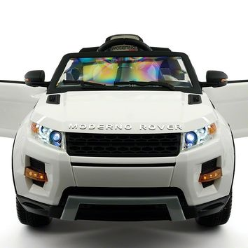 Range Rover Style 12V Kids Ride-On Toy Car Battery Powered LED Wheels R/C White