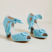 Miss L Fire Trial and Era Suede Heel in Sky Blue