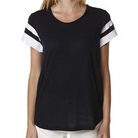 ALL ABOUT EVE BASE WOMENS TEE - NAVY