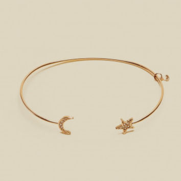 STAR MOON OPEN BRACELET