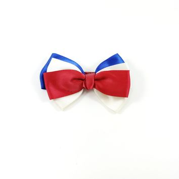 Hair Bow Clip Red/White/Blue HB6