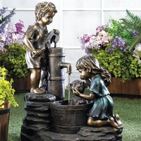 Doggy Wash Garden Water Fountain With Electric Pump