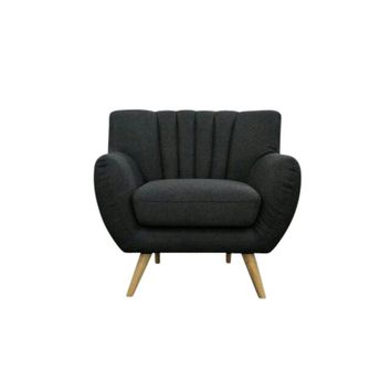Modern Scandinavian Dark Grey Lilly 1-Seater Lounge Chair