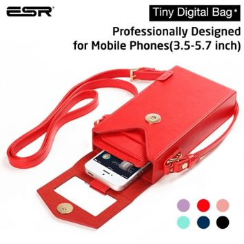 iPhone 6 Case, ESR Tiny Digital Bag [Crossbody Satchel Hand Bag] [Vintage] Box Purse With Shoulder,Phone Purse Phone Wallet Case for phone under 5.7 inches [ iPhone 6 Plus] [Galaxy S6/edge] (Mysterious Red£©