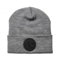 CODE-ORANGE-BLACK-ON-GREY-PANTHER-BEANIE