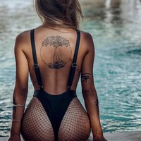 Black Widow Thong one piece Miami swimwear