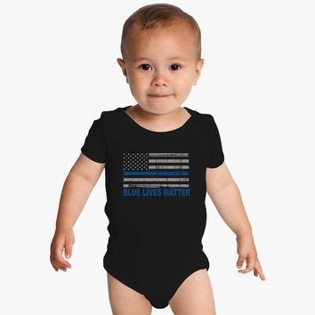 Blue Lives Matter Baby Onesuits